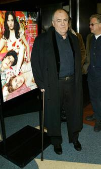 Bernardo Bertolucci at the New York premiere of