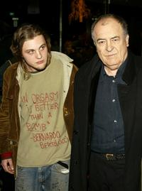 Bernardo Bertolucci and Michael Pitt at the New York premiere of