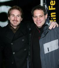 Mike Binder and Jack Binder at the premiere of