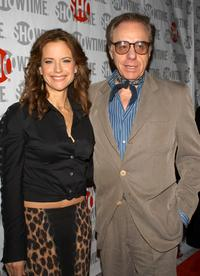 Peter Bogdanovich and Kelly Preston at California premiere of