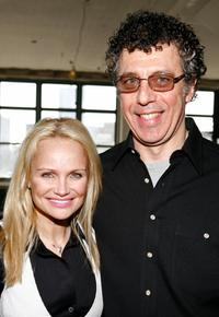 Eric Bogosian and Kristin Chenoweth at the announcement of the capital campaign for New York Public Radio.
