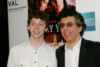Eric Bogosian and his son Travis at the premiere of