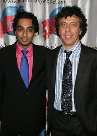 Eric Bogosian and Manu Narayan at the after party for the opening night for the play