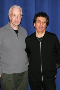 Eric Bogosian and Robert Falls at the rehearsal for