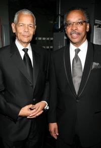 Julian Bond and Bruce Gordon at the 38th annual NAACP Image Awards.