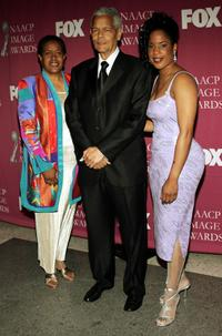 Julian Bond and Guest at the 36th NAACP Image Awards.