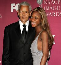 Julian Bond and Sharon Warren at the 36th NAACP Image Awards.