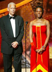 Julian Bond and India Arie at the 35th Annual NAACP Image Awards.
