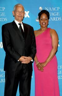 Julian Bond and Roslyn M.Brock at the 38th annual NAACP Image Awards.