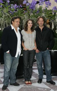 Didier Bourdon, Marion Cotillard and Russel Crowe at the promotion of