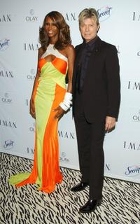 David Bowie and Iman at the party for Iman's new book