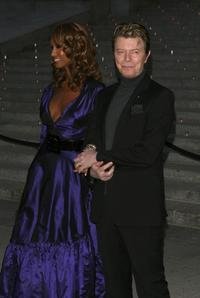David Bowie and Iman at the Vanity Fair party for the 5th Annual Tribeca Film Festival.