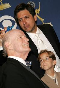 Peter Boyle and Ray Romano at the press room at the 57th Annual Emmy Awards held at the Shrine Auditorium.