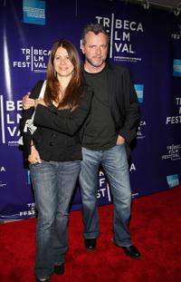 Elizabeth Bracco and Aidan Quinn at the premiere of