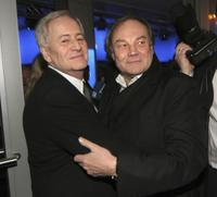 Klaus Maria Brandauer and Istvan Szabo at the Deutsches Theatre for Diva awards.