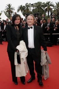 Patrick Braoude and Guest at the premiere of