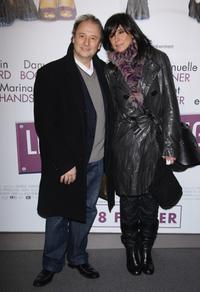 Patrick Braoude and his wife at the premiere of