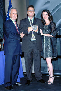 New York City Mayor Michael Bloomberg, Kevin Breslin and Katherine Oliver at the Made In NY Awards in New York City.
