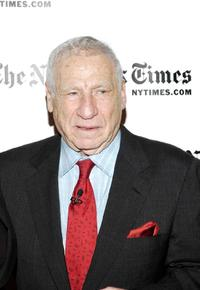 Mel Brooks at the Times Center for the New York Times Arts & Leisure Week.