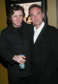 Nick Broomfield and Gabriel Byrne at the special screening of