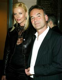 Nick Broomfield and Charlize Theron at the charity screening of
