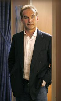 Nick Broomfield at the interview for