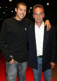 Nick Broomfield and Elliot Ruiz at the premiere of