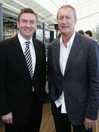 Bryan Brown and Eddie McGuire at the