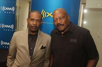 Joe Madison and Jim Brown at the SIRIUS XM Studios.