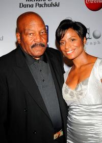 Jim Brown and Monique Brown at the Annual Harold Pump Foundation Gala.