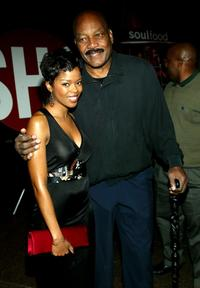 Jim Brown and Malinda Williams at the screening of