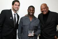 Matt Lienart, LaDanian Tomlinson and Jim Brown at the 22nd Annual Cedars-Sinai Sports Spectacular.