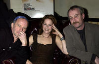 Director Arliss Howard, Debra Winger and Larry Brown at the release party of