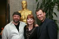 Barney Burman, Mindy Hall and Joel Harlow at the 82nd Academy Awards Makeup Artists and Hairstylists Symposium.