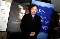 Tim Burton at the Q&A session and screening of