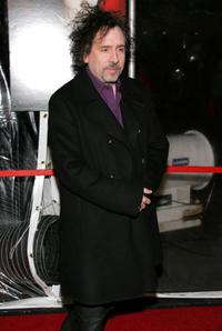 Tim Burton at the New York premiere of