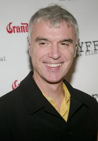 David Byrne at the premiere of