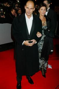 Bernard Campan and his wife at the Cesars Film Awards.