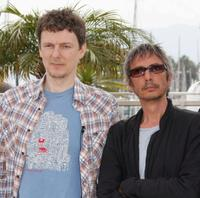 Michel Gondry and Leos Carax at the photocall of