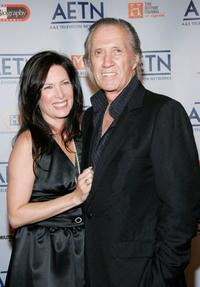 Annie Bierman and David Carradine at the A&E Television Networks Upfront celebration.