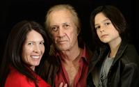 David Carradine, Annie Bierman and Max at the Peninsula Hotel for