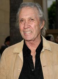 David Carradine at the premiere of