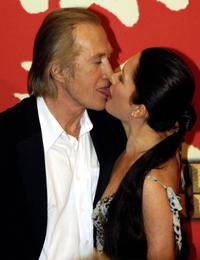 David Carradine and Annie Bierman at the Munich for the German premiere of Quentin Tarantinos film