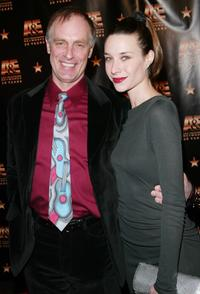 Keith Carradine and Hayley DuMond at the Mandarin Oriental Hotel for A & E Television Networks 20th anniversary celebration.