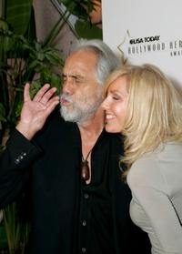 Tommy Chong and Shelby at the celebration honoring Geena Davis as this years Hollywood Hero by USA Today for the See Jane Program.