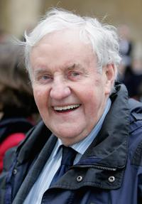 Richard Briers at the Queen Elizabeth II Visits Chatham House & BBC Broadcasting House.