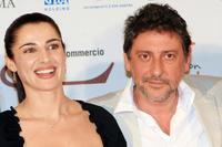 Luisa Ranieri and Sergio Castellitto at the photocall during the Roma FictionFest.