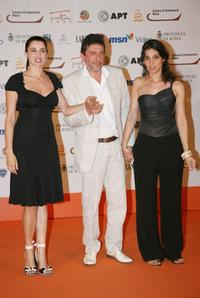 Luisa Ranieri and Sergio Castellitto and Donatella Finocchiaro at the photocall during the Roma FictionFest.