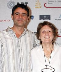 Vincenzo Amato and Liliana Cavani at the Roma Fiction Fest 2008.