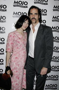 Susie Bick and Nick Cave at the MOJO Honours List Awards.